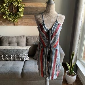 Ethereal Printed Button Front Dress